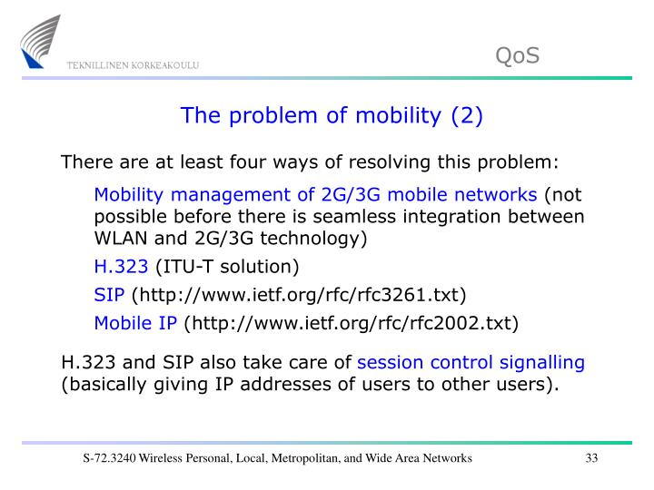 The problem of mobility (2)