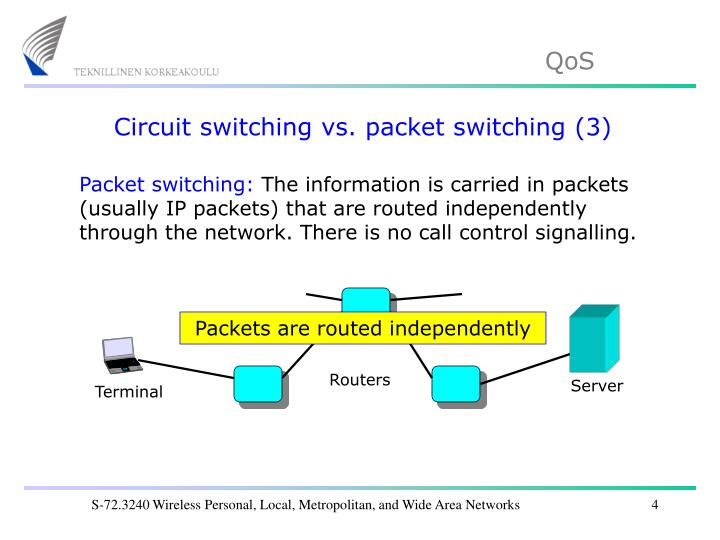 Circuit switching vs. packet switching (3)