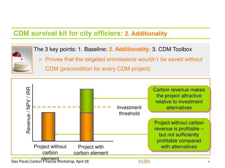 CDM survival kit for city officiers: