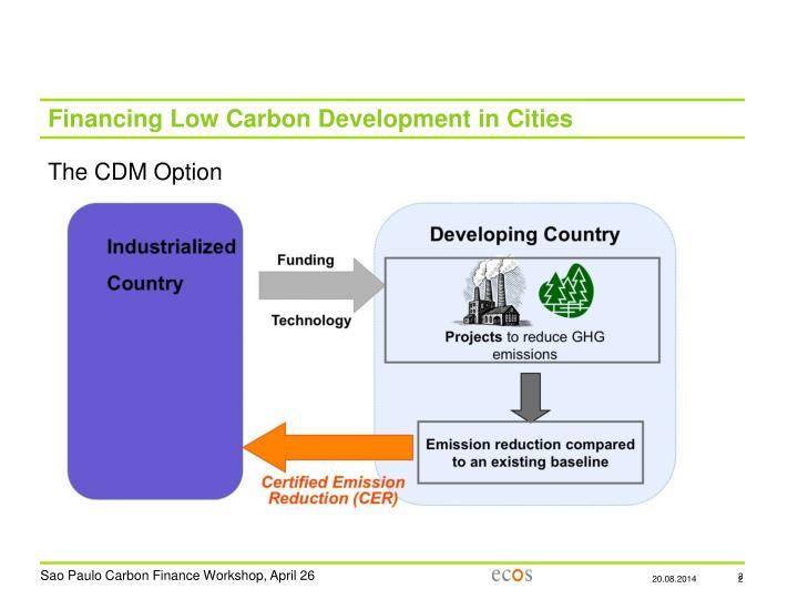 Financing Low Carbon Development in Cities