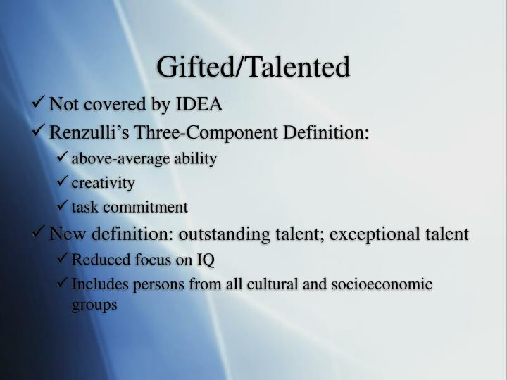 Gifted/Talented