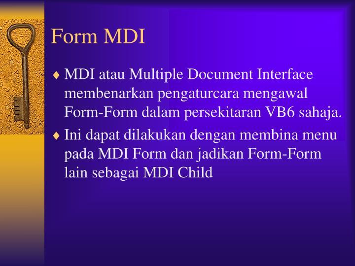 Form MDI