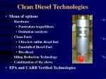 clean diesel technologies