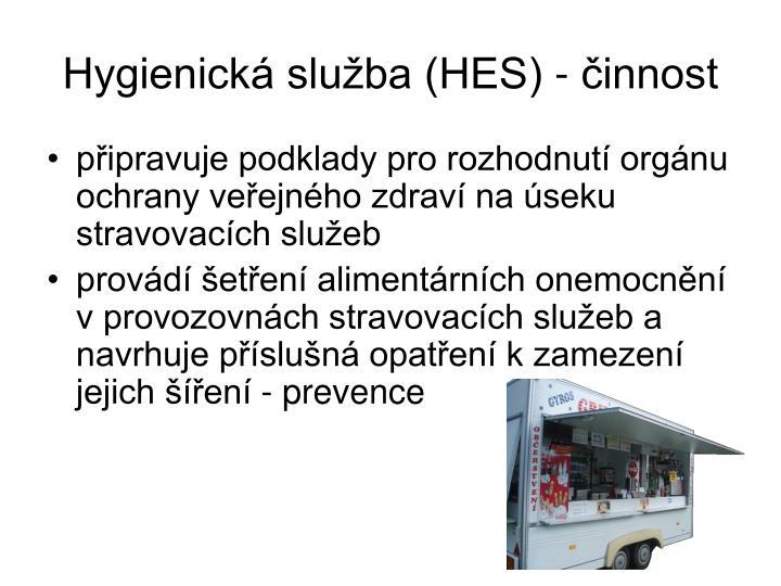 Hygienická služba (HES) - činnost