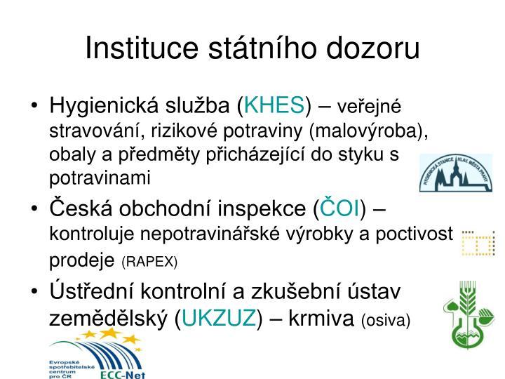Instituce státního dozoru