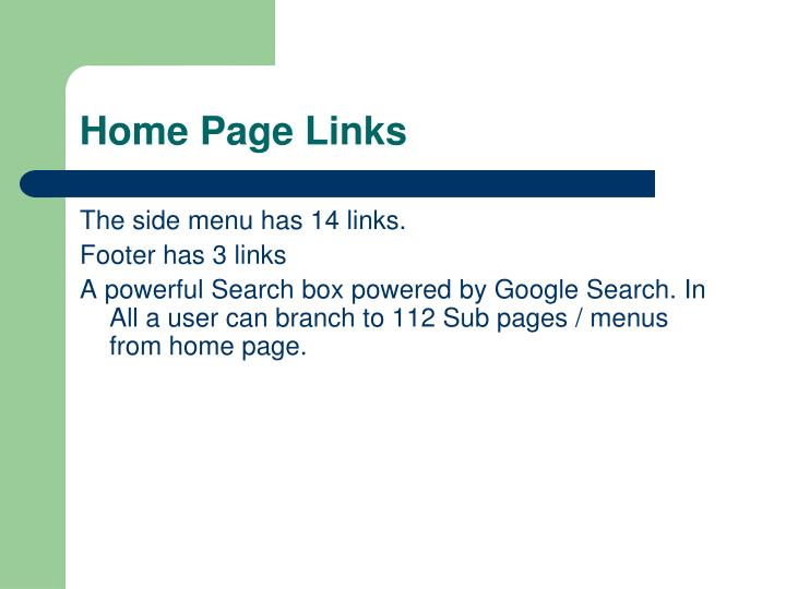 Home Page Links