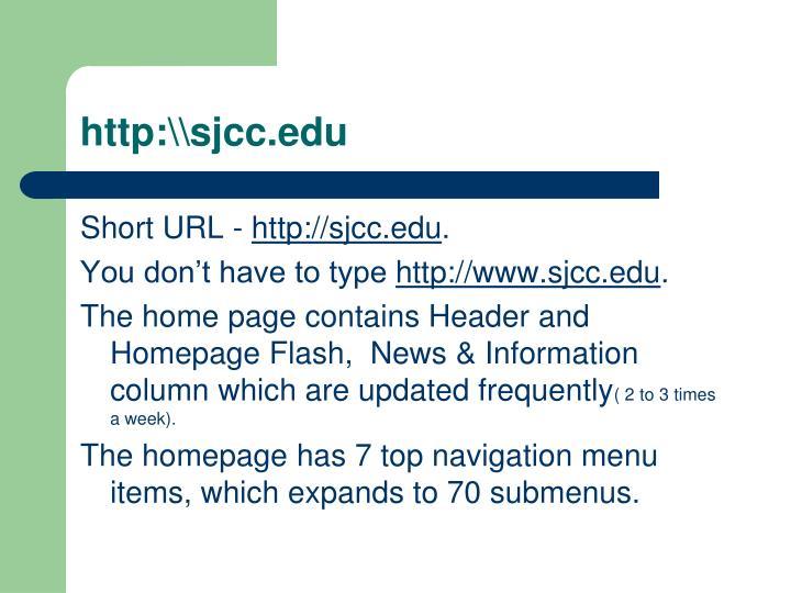 http:\\sjcc.edu