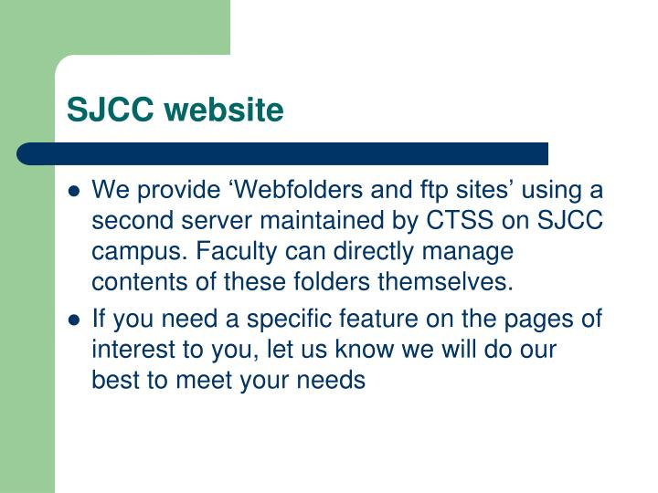 SJCC website