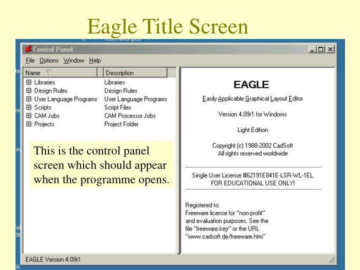 Eagle Title Screen