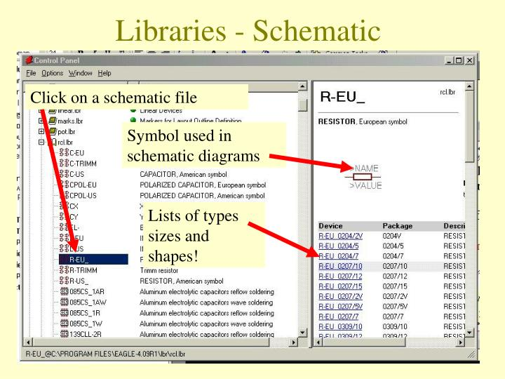Click on a schematic file