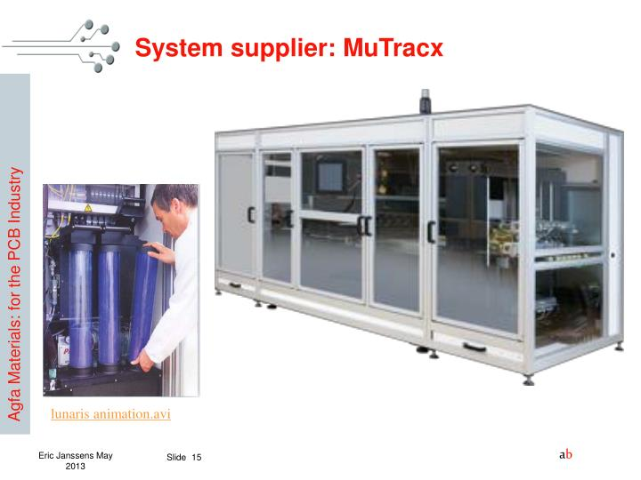 System supplier: MuTracx