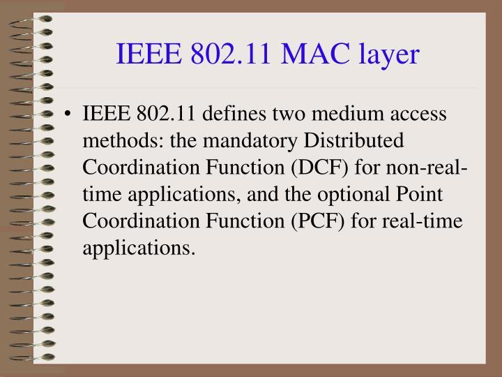 IEEE 802.11 MAC layer