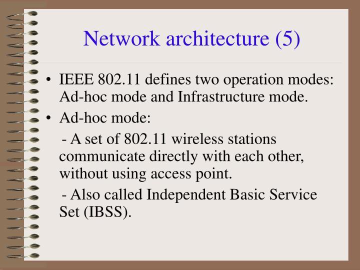 Network architecture (5)