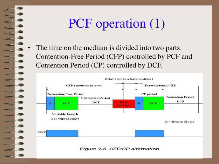 PCF operation (1)