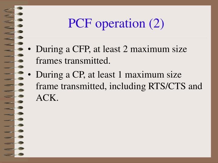 PCF operation (2)