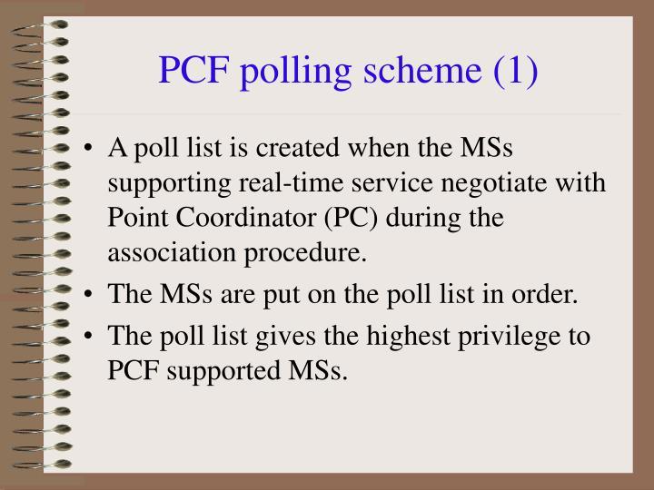 PCF polling scheme (1)