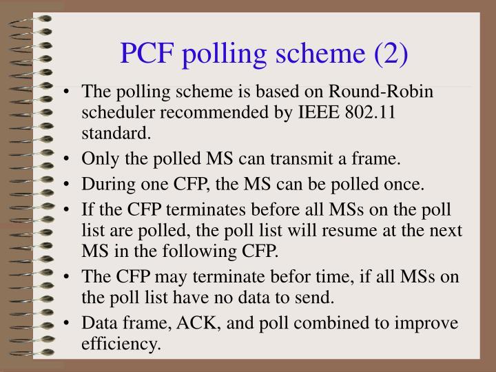 PCF polling scheme (2)