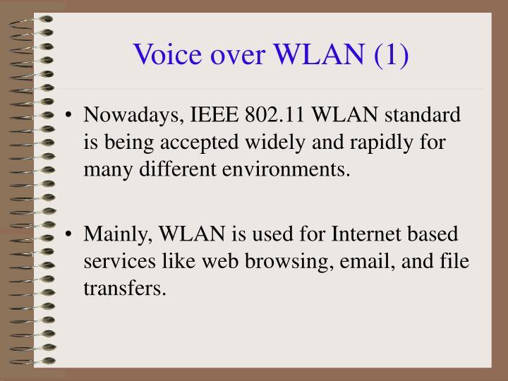 Voice over WLAN (1)
