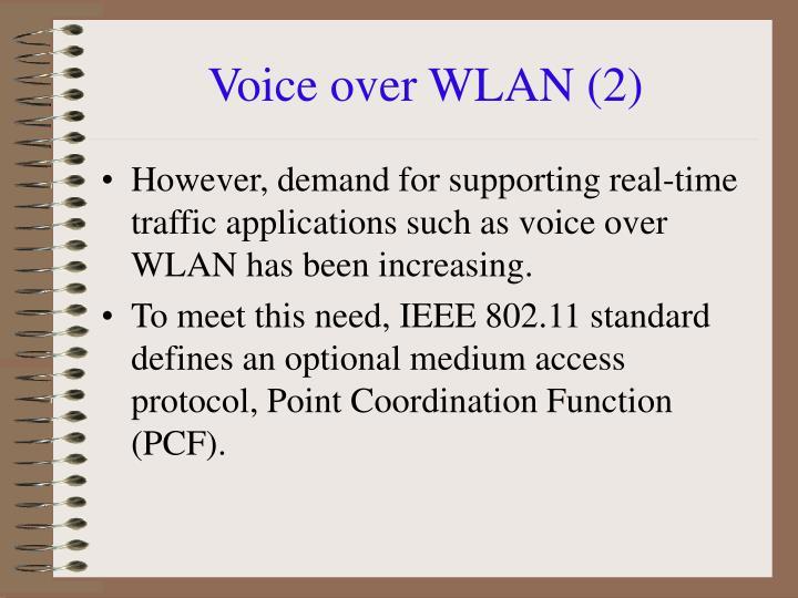 Voice over WLAN (2)