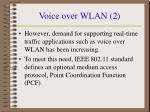 voice over wlan 2