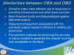 similarities between oba and obd