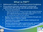 what is pbp