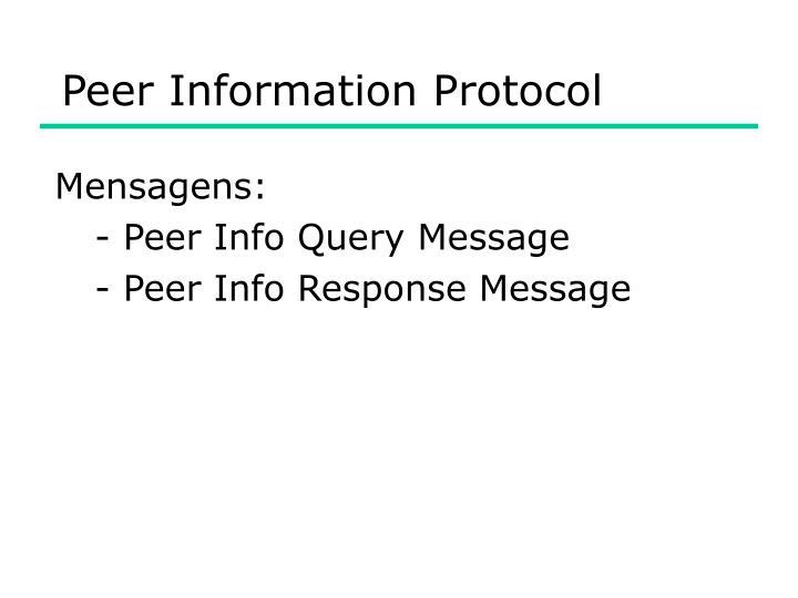 Peer Information