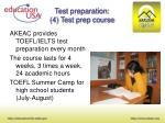 test preparation 4 test prep course