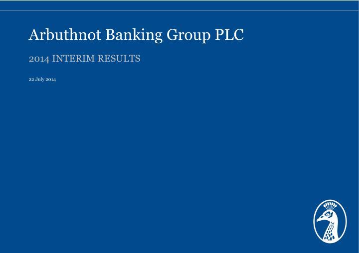 arbuthnot banking group plc