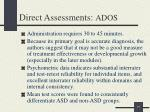 direct assessments ados2