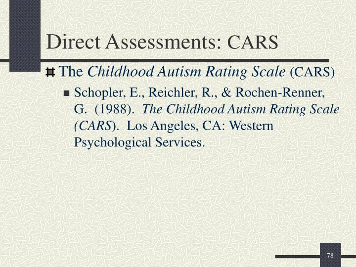 Direct Assessments: