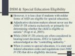 dsm special education eligibility3
