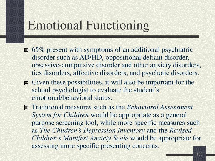 Emotional Functioning