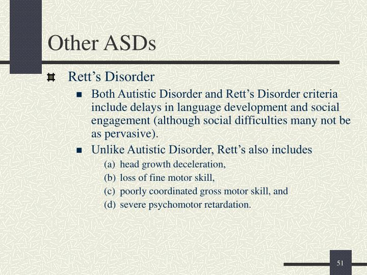 Other ASDs