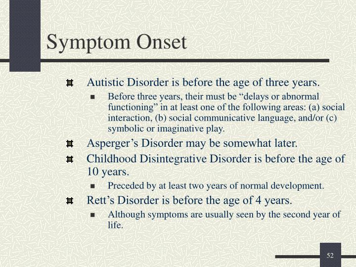 Symptom Onset