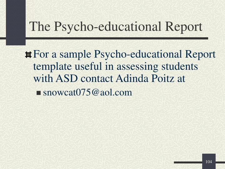 The Psycho-educational Report