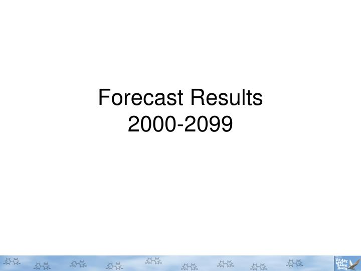 Forecast Results