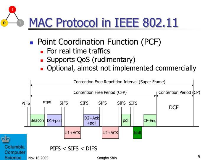 MAC Protocol in IEEE 802.11