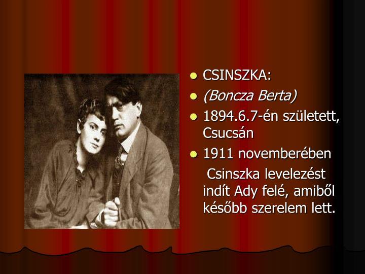 CSINSZKA: