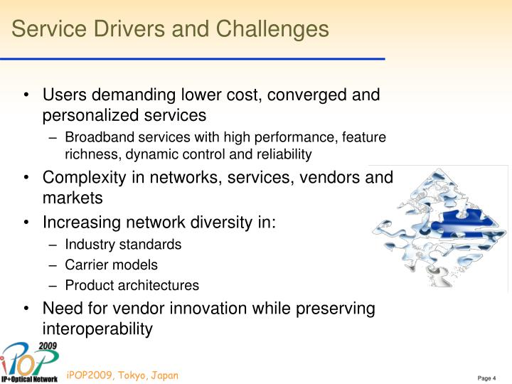 Service Drivers and Challenges