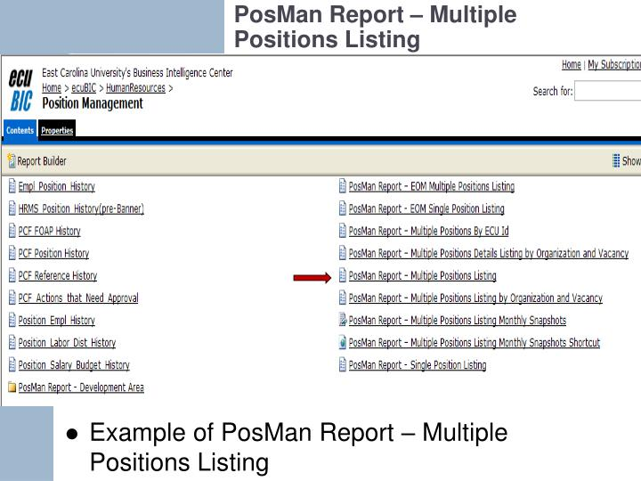 PosMan Report – Multiple Positions Listing