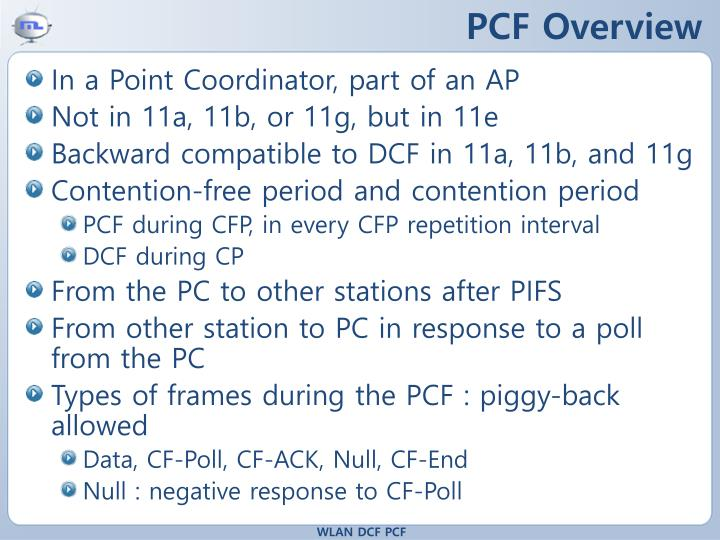 PCF Overview