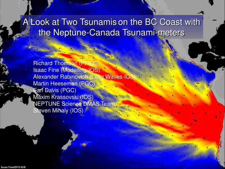 A Look at Two Tsunamis