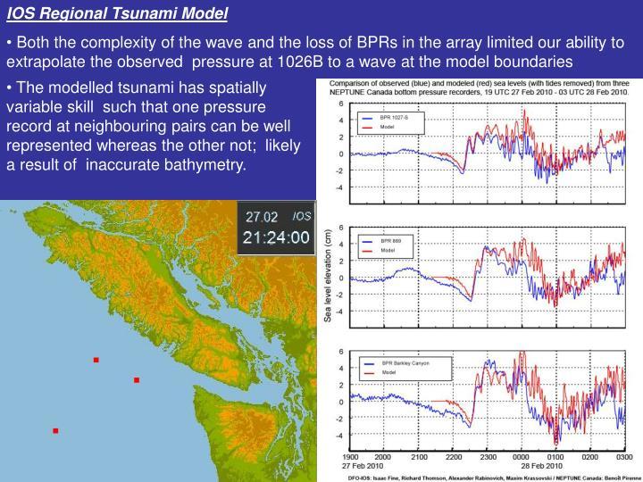 IOS Regional Tsunami Model