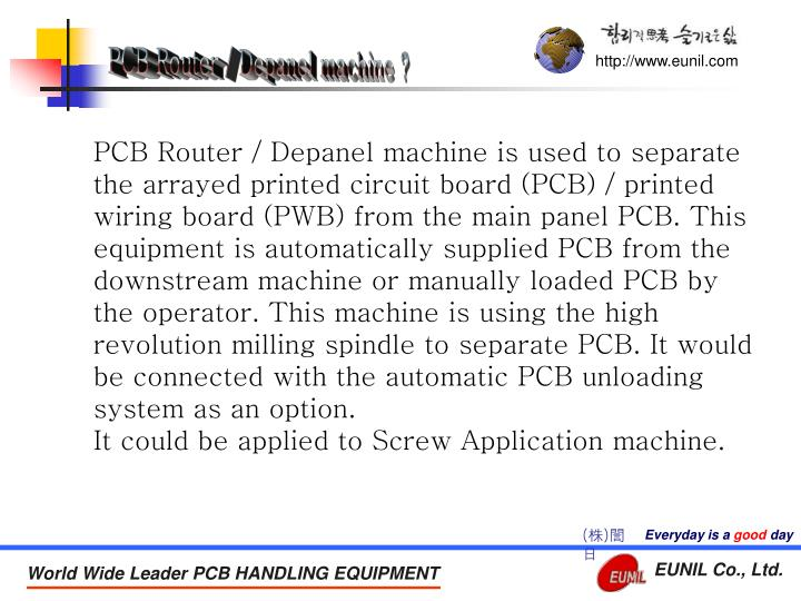 PCB Router / Depanel machine ?