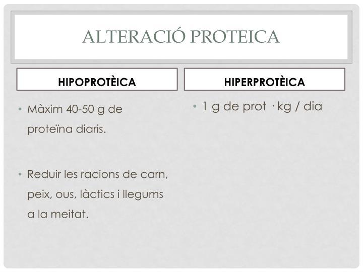 Alteració proteica