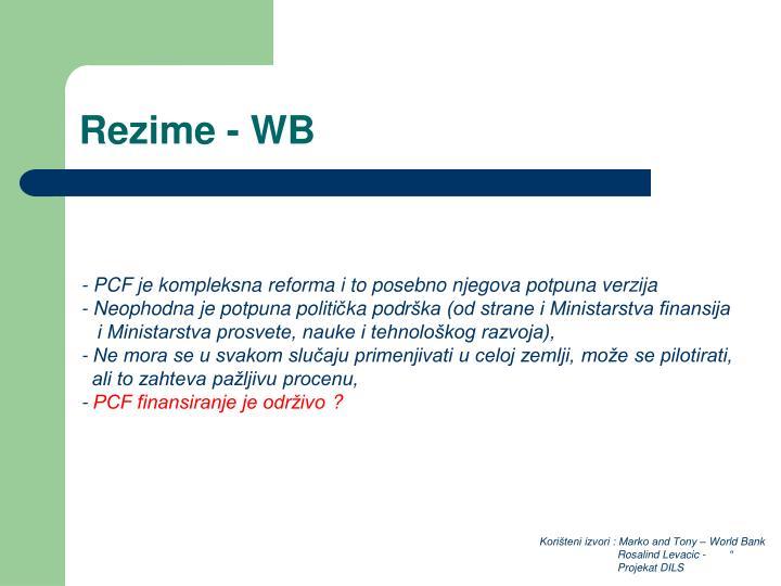 Rezime - WB