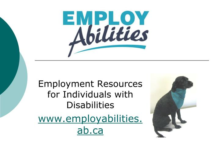 Employment Resources for Individuals with Disabilities