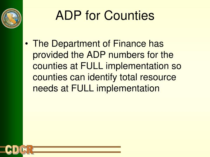 ADP for Counties
