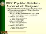 cdcr population reductions associated with realignment